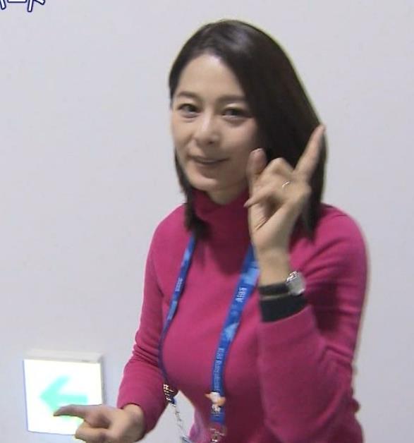 杉浦友紀アナ マッサージチェア×巨乳キャプ・エロ画像7