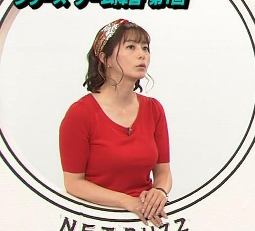 アナ Tシャツで巨乳がエロ過ぎキャプ・エロ画像12
