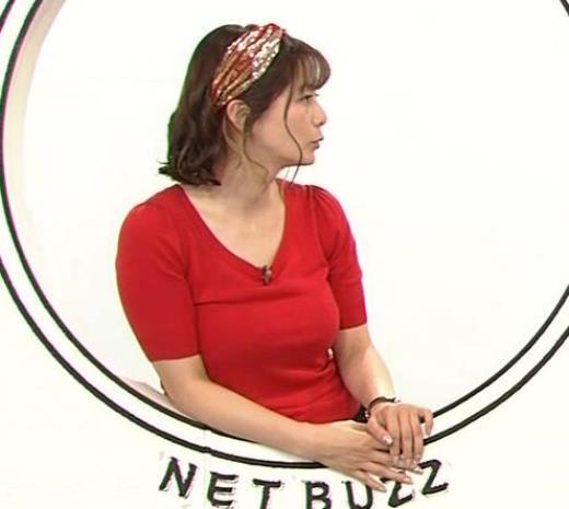 杉浦友紀アナ Tシャツで巨乳がエロ過ぎキャプ画像(エロ・アイコラ画像)