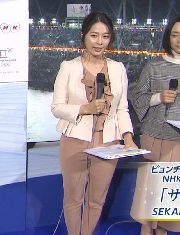 杉浦友紀アナ 下半身もムチムチのパンツスタイルキャプ・エロ画像5