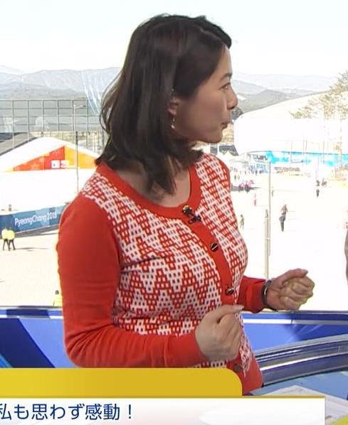 杉浦友紀アナ 連日巨乳が見れるオリンピックになってるキャプ・エロ画像