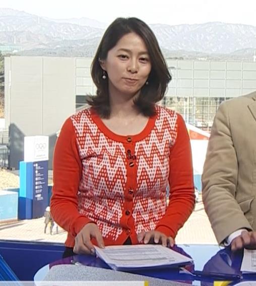 杉浦友紀アナ 連日巨乳が見れるオリンピックになってるキャプ・エロ画像2