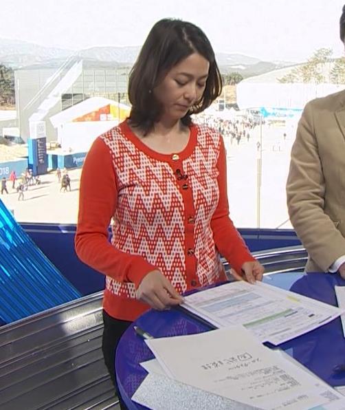 杉浦友紀アナ 連日巨乳が見れるオリンピックになってるキャプ・エロ画像3