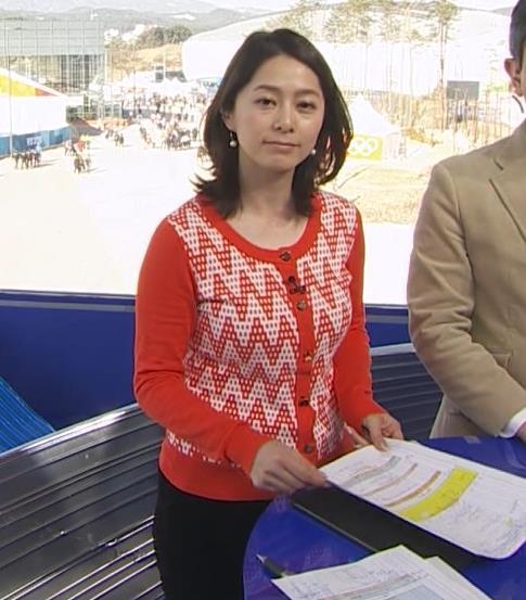 杉浦友紀アナ 連日巨乳が見れるオリンピックになってるキャプ・エロ画像4