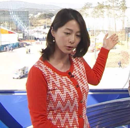杉浦友紀アナ 連日巨乳が見れるオリンピックになってるキャプ・エロ画像8