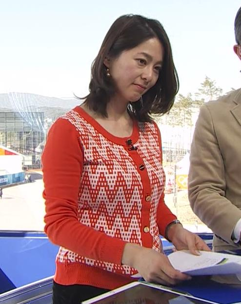 杉浦友紀アナ 連日巨乳が見れるオリンピックになってるキャプ・エロ画像9