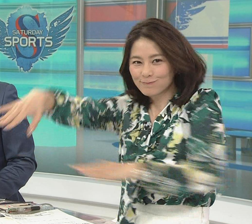 杉浦友紀アナ 「サタデースポーツ」よりキャプ・エロ画像9