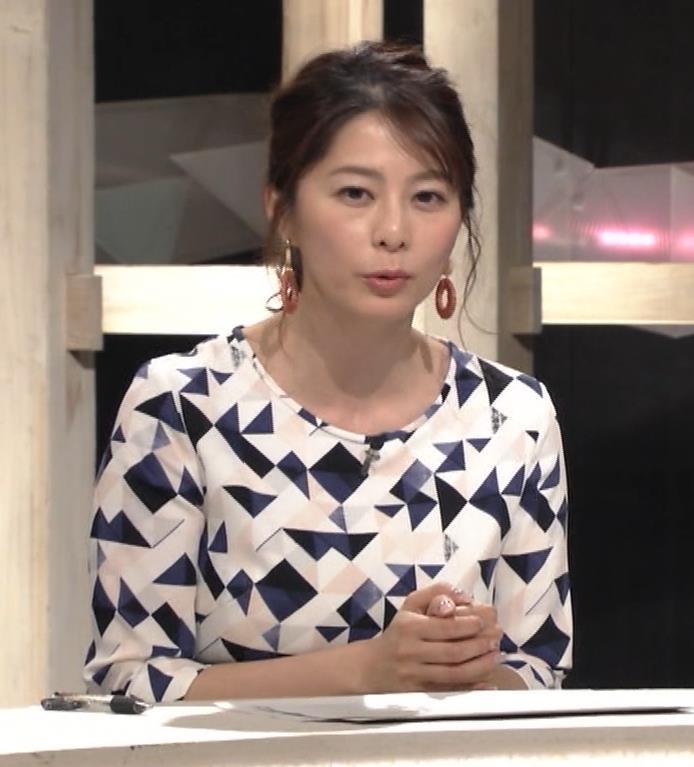杉浦友紀アナ 胸をつぶすお辞儀キャプ・エロ画像7