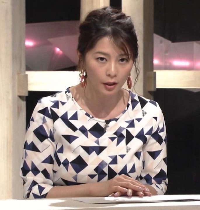 杉浦友紀アナ 胸をつぶすお辞儀キャプ・エロ画像8