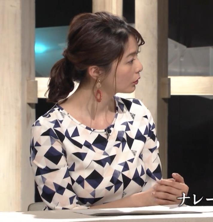 杉浦友紀アナ 胸をつぶすお辞儀キャプ・エロ画像9