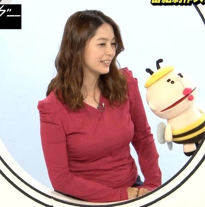 杉浦友紀アナ 巨乳を自分で揉みそうな画像キャプ・エロ画像4
