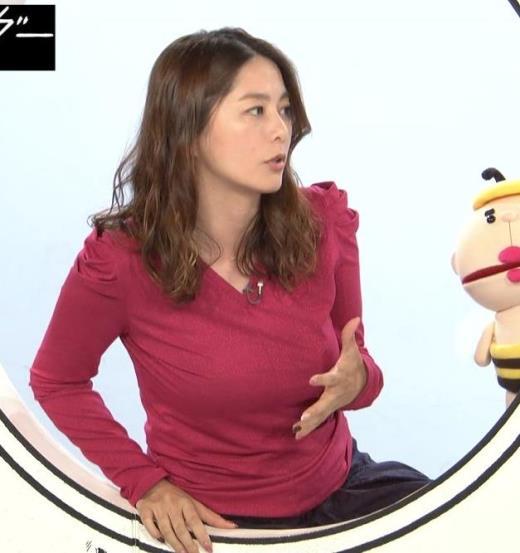 杉浦友紀アナ 巨乳を自分で揉みそうな画像キャプ画像(エロ・アイコラ画像)