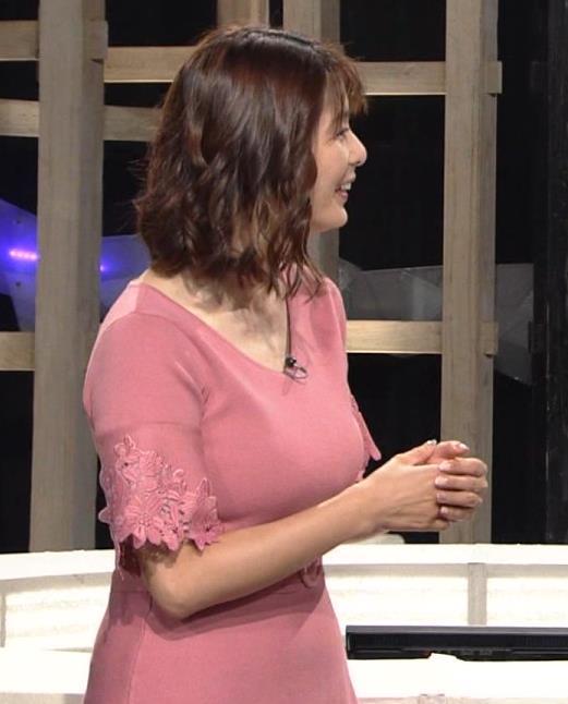杉浦友紀アナ 乳を見られるのが好きなんだろうねキャプ・エロ画像2