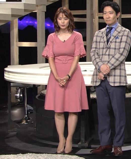 杉浦友紀アナ 乳を見られるのが好きなんだろうねキャプ・エロ画像5