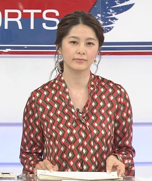 杉浦友紀アナ ゆったりシャツキャプ・エロ画像