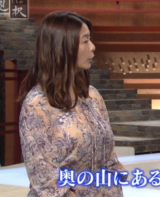 杉浦友紀アナ 爆乳が少しだけアピールキャプ画像(エロ・アイコラ画像)
