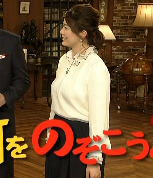 杉浦友紀アナ 垂れてそうな巨乳がエロいキャプ・エロ画像2