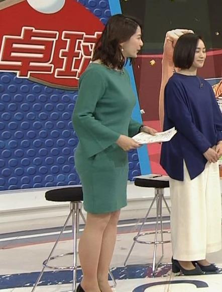 杉浦友紀アナ 横乳と生足キャプ・エロ画像