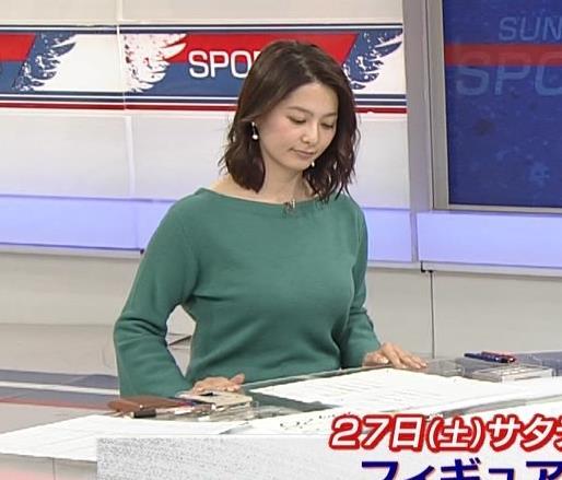 杉浦友紀アナ 横乳と生足キャプ・エロ画像2