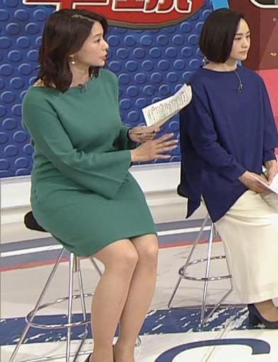 杉浦友紀アナ 横乳と生足キャプ・エロ画像14