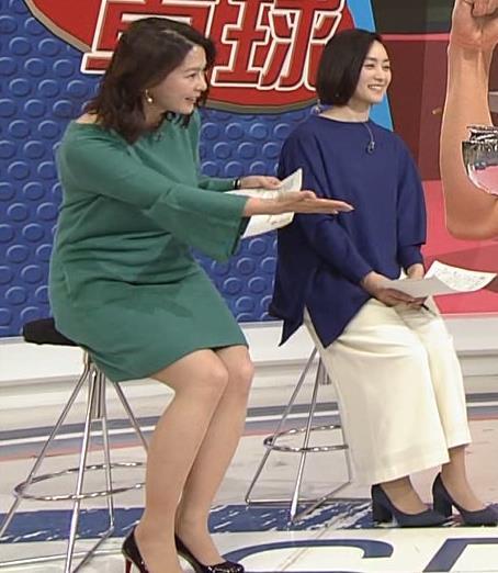 杉浦友紀アナ 横乳と生足キャプ・エロ画像15
