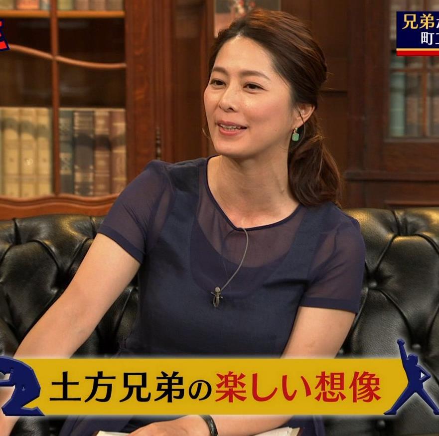 杉浦友紀アナ 久しぶりにすげぇ横乳キャプ・エロ画像3
