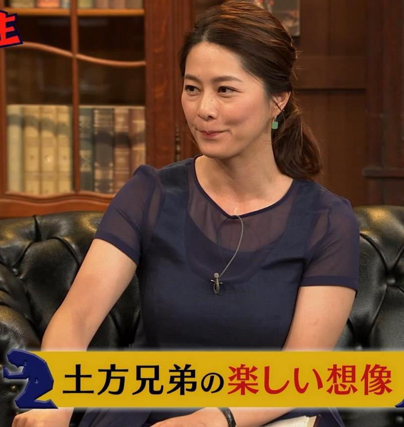 杉浦友紀アナ 久しぶりにすげぇ横乳キャプ・エロ画像4