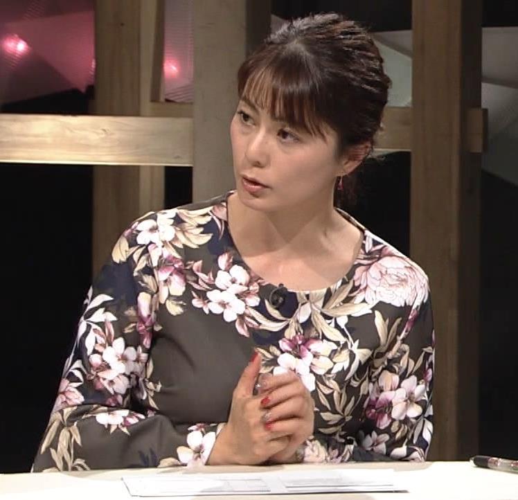 杉浦友紀アナ 安定の巨乳キャプ・エロ画像2