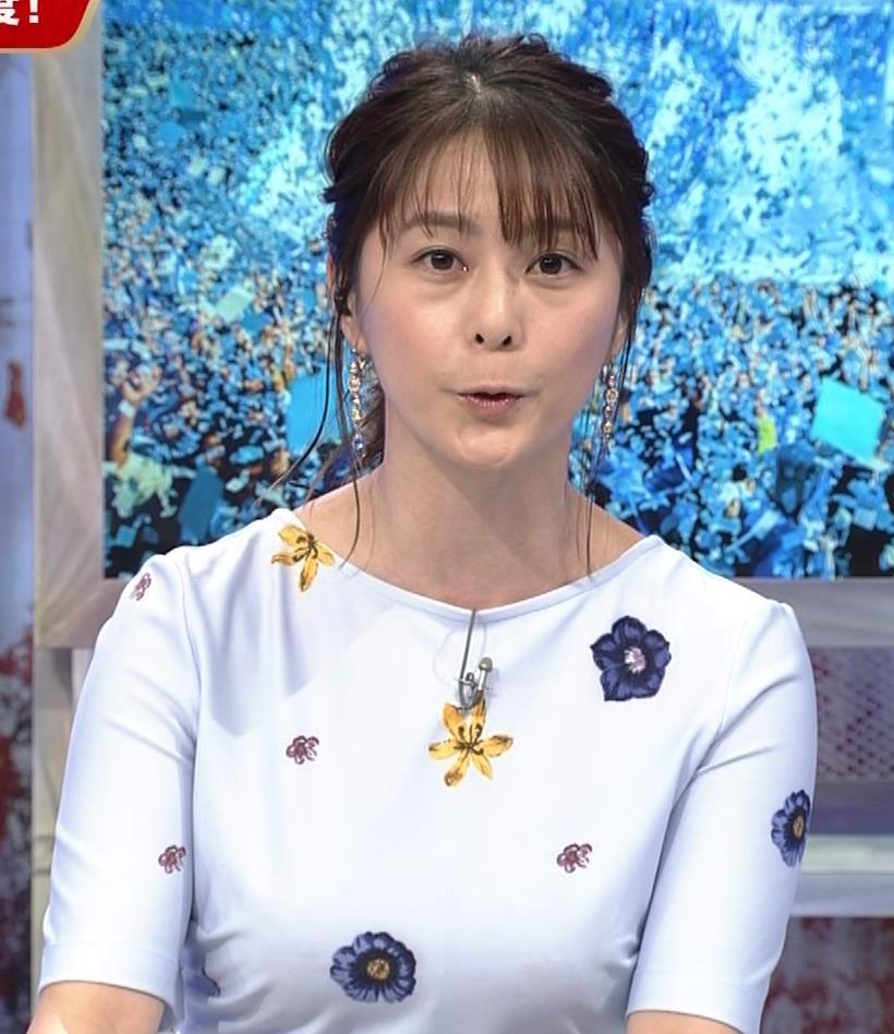 杉浦友紀アナ 「おっぱい半端ないって!」 ワールドカップ番組でお胸がエロ過ぎキャプ・エロ画像4