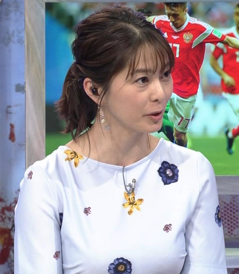 杉浦友紀アナ 「おっぱい半端ないって!」 ワールドカップ番組でお胸がエロ過ぎキャプ・エロ画像8