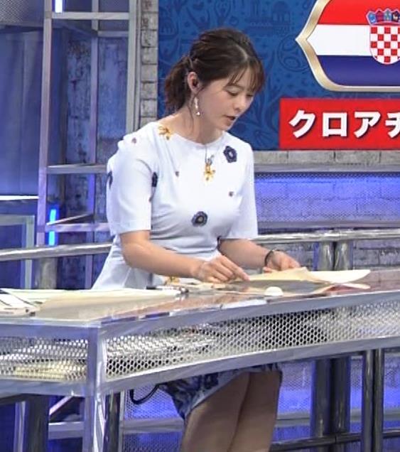 杉浦友紀アナ 「おっぱい半端ないって!」 ワールドカップ番組でお胸がエロ過ぎキャプ・エロ画像9