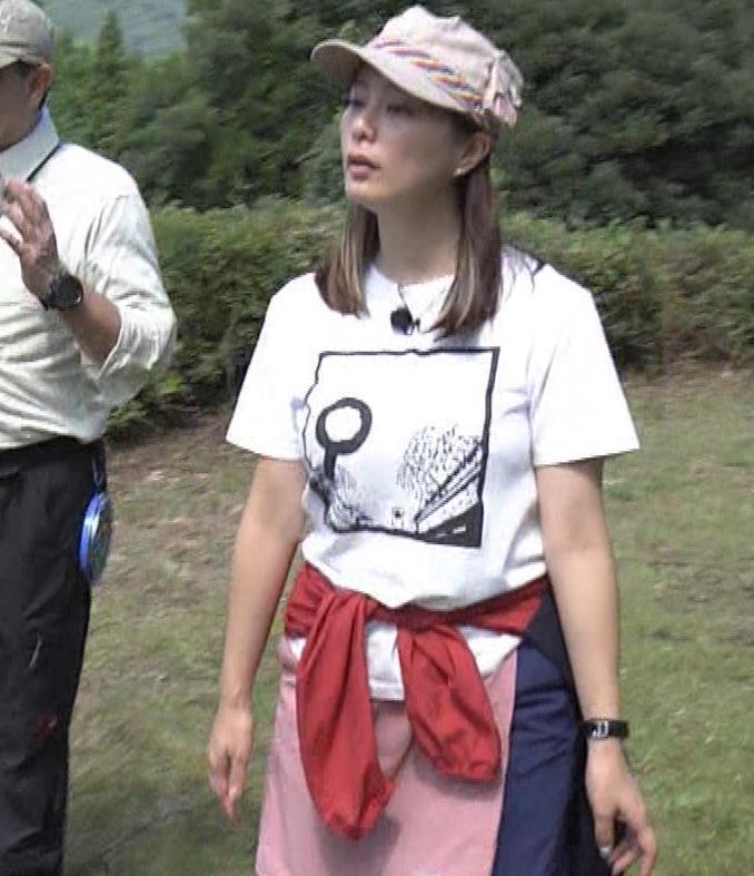 杉浦友紀アナ 貴重なTシャツ姿【爆乳】キャプ・エロ画像6