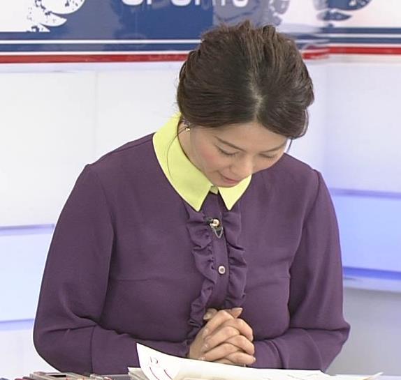 杉浦友紀アナ 清楚系衣装キャプ・エロ画像