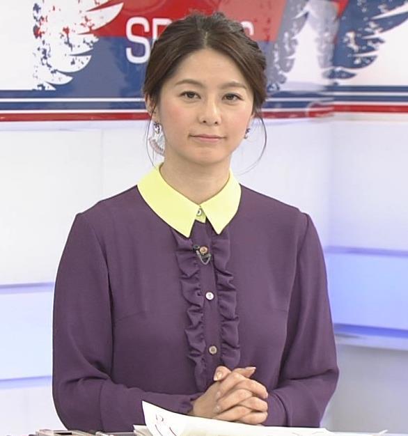 杉浦友紀アナ 清楚系衣装キャプ・エロ画像2