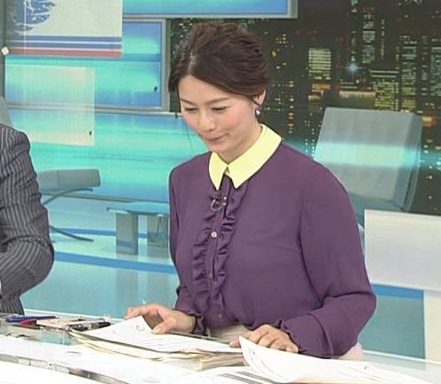 杉浦友紀アナ 清楚系衣装キャプ・エロ画像3