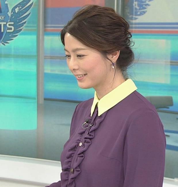 杉浦友紀アナ 清楚系衣装キャプ・エロ画像4