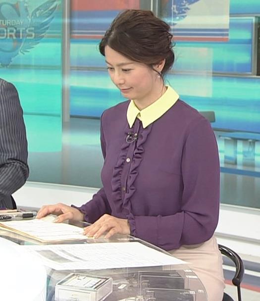 杉浦友紀アナ 清楚系衣装キャプ・エロ画像6