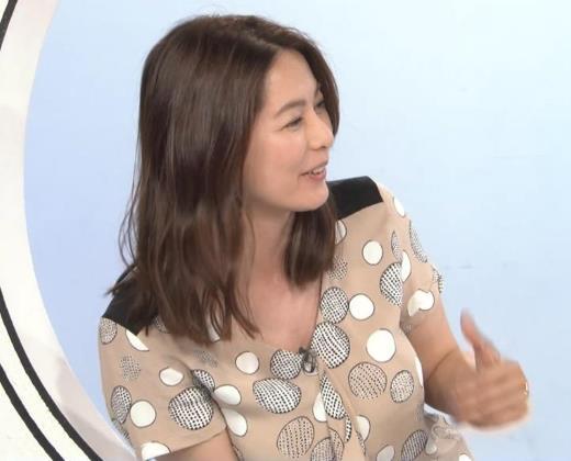 杉浦友紀アナ 胸元ゆるめキャプ画像(エロ・アイコラ画像)