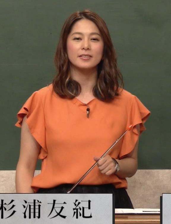 杉浦友紀アナ エロいワキキャプ・エロ画像2