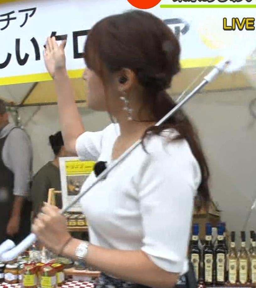 鷲見玲奈アナ エロいニット胸元キャプ・エロ画像13