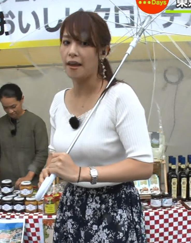 鷲見玲奈アナ エロいニット胸元キャプ・エロ画像14