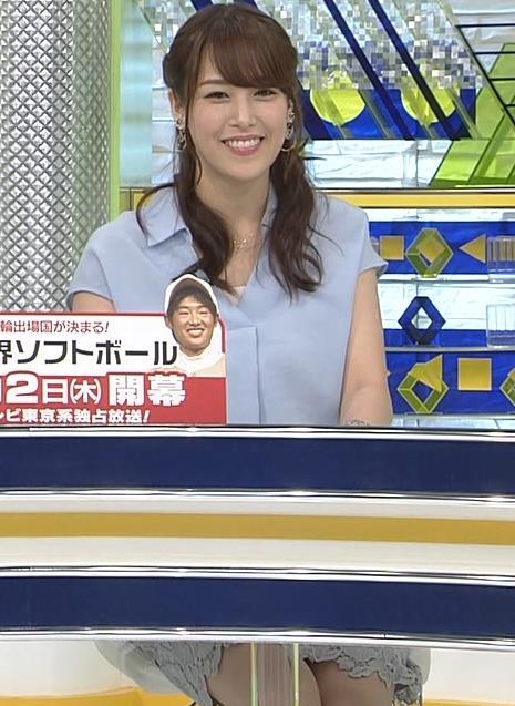 鷲見玲奈アナ 短パンで太もも露出キャプ・エロ画像13