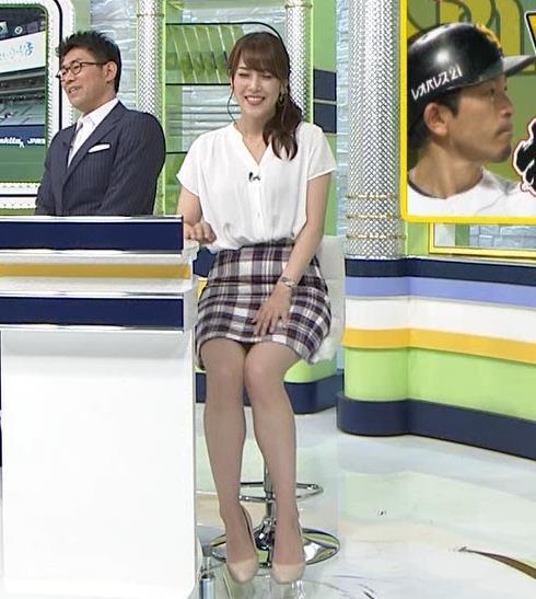 鷲見玲奈アナ エロい腰つきキャプ・エロ画像4