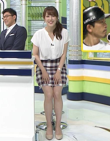 鷲見玲奈アナ エロい腰つきキャプ・エロ画像5