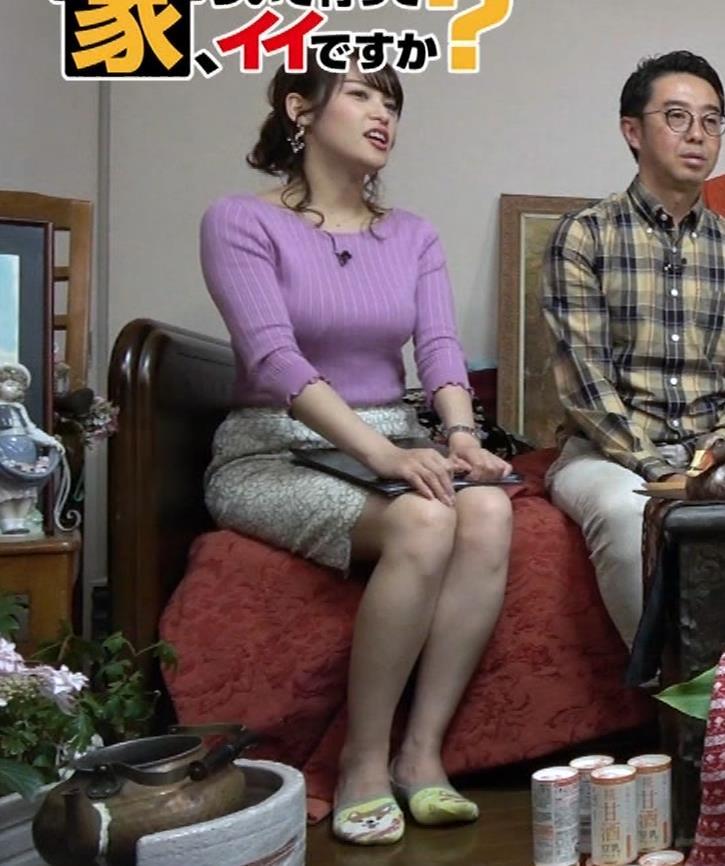 鷲見玲奈アナ スカートがめくれて太ももが見えた!(GIFあり)キャプ・エロ画像11