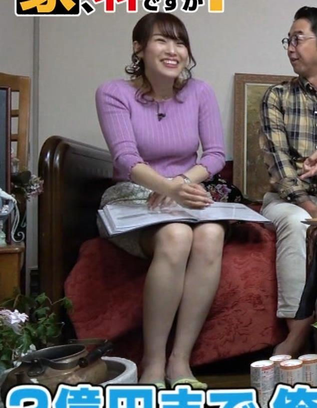 鷲見玲奈アナ スカートがめくれて太ももが見えた!(GIFあり)キャプ・エロ画像9