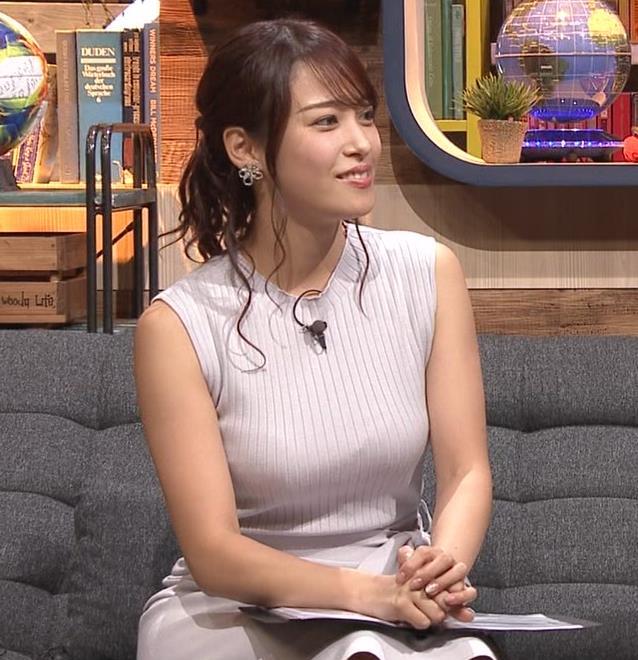 鷲見玲奈アナ エロいカラダを強調キャプ・エロ画像2