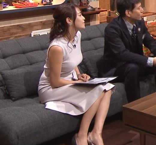 鷲見玲奈アナ エロいカラダを強調キャプ・エロ画像3