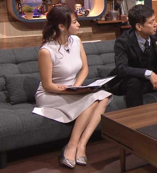 鷲見玲奈アナ エロいカラダを強調キャプ・エロ画像4