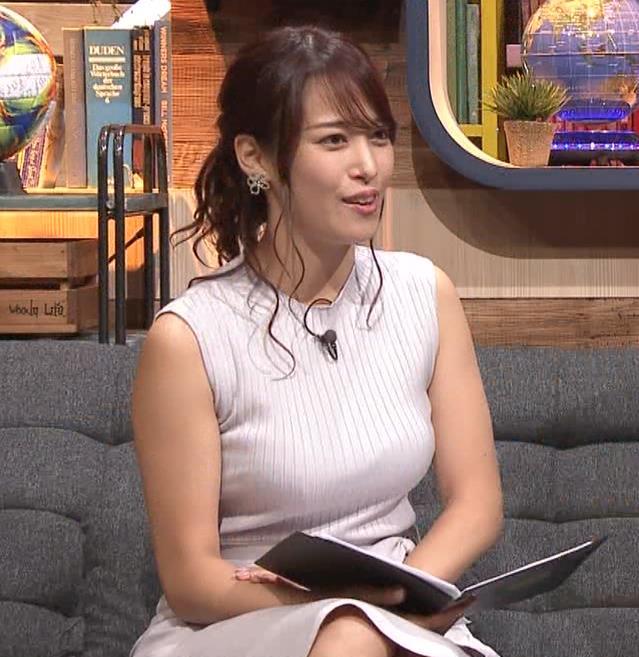 鷲見玲奈アナ エロいカラダを強調キャプ・エロ画像6